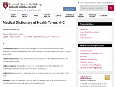Medical Dictionary of Health Terms
