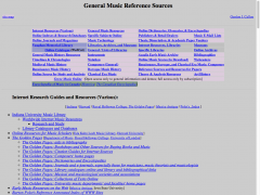 General Music Reference Sources